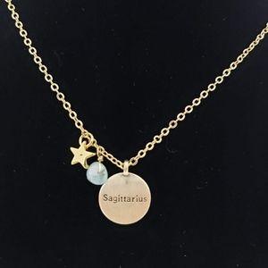 SAGITTARIUS Zodiac Gemstone Constellation Necklace
